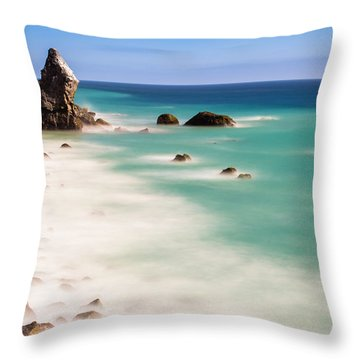 Into The Blue Throw Pillow by Tassanee Angiolillo