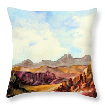 Into The Canyon Throw Pillow
