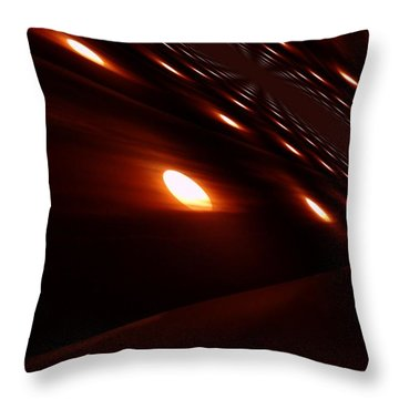 Into The Death Star Throw Pillow by Jeff Swan