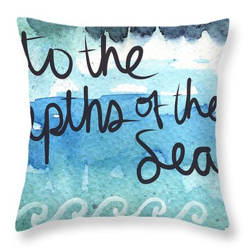 Into The Depths Of The Sea Throw Pillow