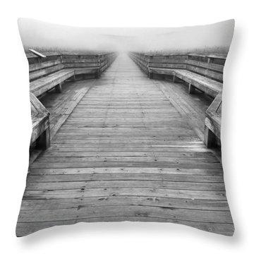 Into The Fog Throw Pillow by Cheryl Hoyle