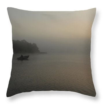 Into The Fog  Throw Pillow by Debbie Oppermann