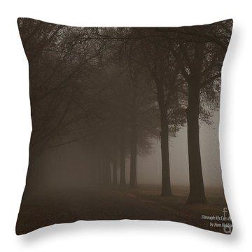 Into The Fog Throw Pillow