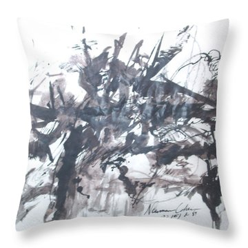 Into The Fray Throw Pillow by Esther Newman-Cohen
