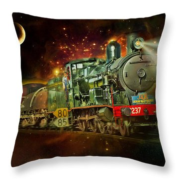 Into The Future 01 Throw Pillow by Kevin Chippindall