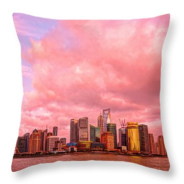 Into The Future Throw Pillow by Midori Chan