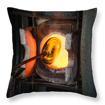 Into The Glory Hole Throw Pillow