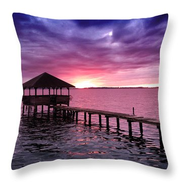 Into The Horizon Throw Pillow by Rebecca Davis