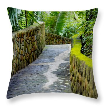 Into The Jungle Throw Pillow by Aged Pixel