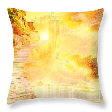 Into The Light Throw Pillow by Liane Wright