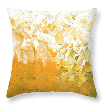 Throw Pillow featuring the painting Into The Light by Linda Bailey