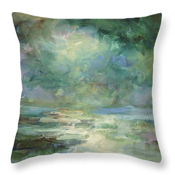 Into The Light Throw Pillow by Mary Wolf