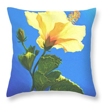 Into The Light Throw Pillow by Sophia Schmierer