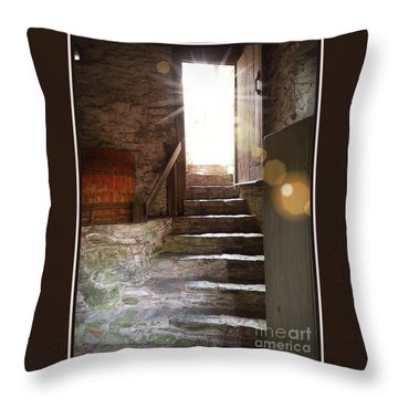 Into The Light - The Ephrata Cloisters Throw Pillow