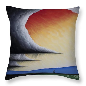 Into The Light V Throw Pillow