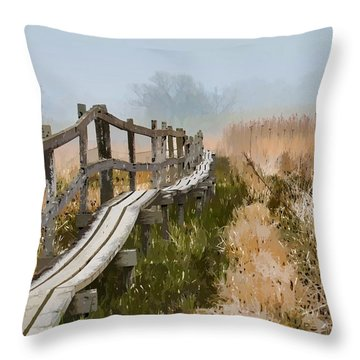 Into The Mist 00 Throw Pillow