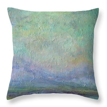 Into The Morning Throw Pillow