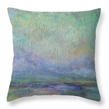 Into The Morning Throw Pillow by Mary Wolf