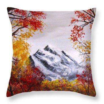 Into The Mountains Throw Pillow by Pheonix Creations