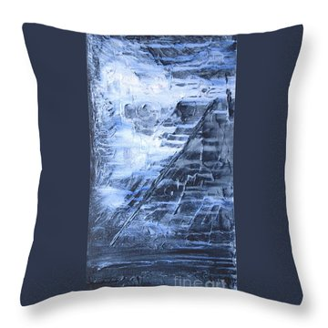 Into The Mystic Throw Pillow by Susan  Dimitrakopoulos