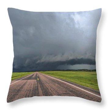 Throw Pillow featuring the photograph Into The Storm by Sebastien Coursol