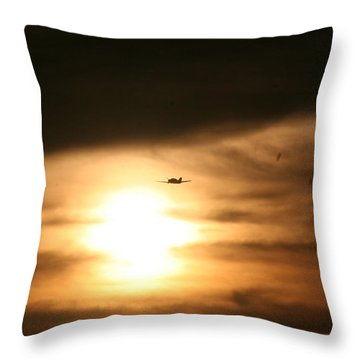 Throw Pillow featuring the photograph Into The Sun by David S Reynolds