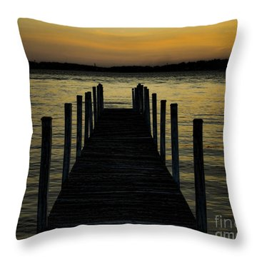 Throw Pillow featuring the photograph Into The Sunset by B Wayne Mullins