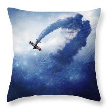 Into The Unknown Throw Pillow by Ellen Heaverlo