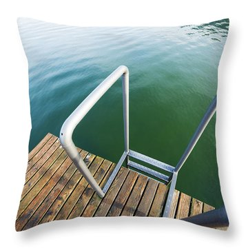 Throw Pillow featuring the photograph Into The Water by Chevy Fleet