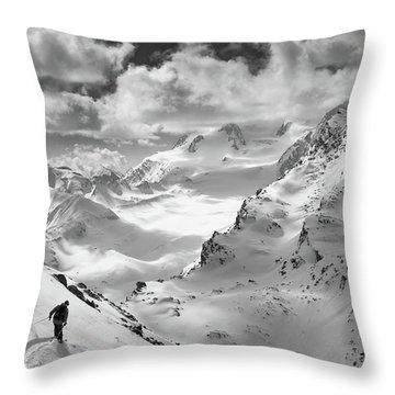 Snowy Mountain Throw Pillows