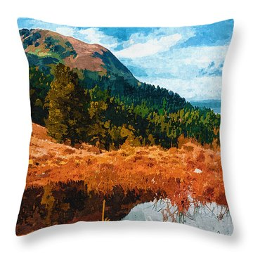 Into The Woods Throw Pillow by Ayse Deniz