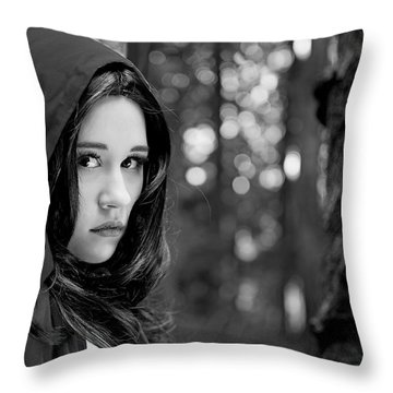 Into The Woods Throw Pillow by Lisa Knechtel
