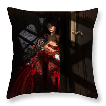 Throw Pillow featuring the digital art Intrigue by Kylie Sabra