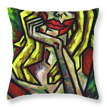 Intrigued Throw Pillow by Kamil Swiatek