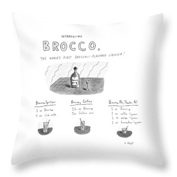 Introducing Brocco. The World's First Throw Pillow by Roz Chast