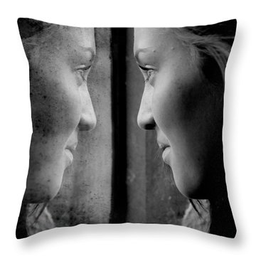 Introspection Throw Pillow by Lisa Knechtel