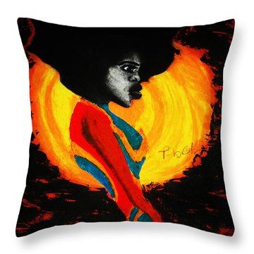 Throw Pillow featuring the painting Introspection by Tarra Louis-Charles