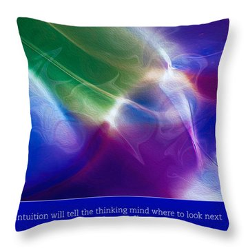 Intuition And The Thinking Mind Throw Pillow by Omaste Witkowski
