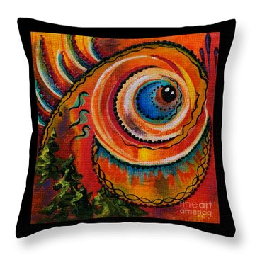 Throw Pillow featuring the painting Intuitive Spirit Eye by Deborha Kerr