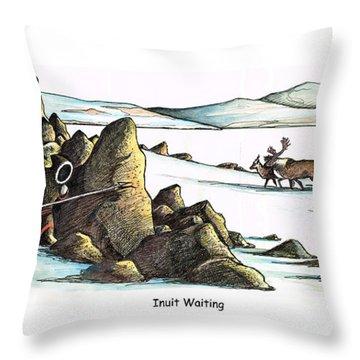 Inuit Waiting Throw Pillow