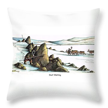 Inuit Waiting Throw Pillow