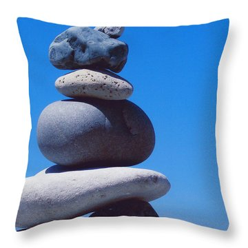 Inukshuk 1 By Jammer Throw Pillow