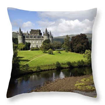 Inveraray Castle - D002464 Throw Pillow by Daniel Dempster