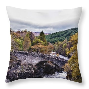 Invermoriston Bridge Throw Pillow