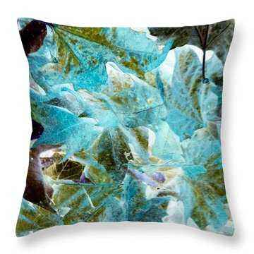 Throw Pillow featuring the photograph Inverted Fall Leaves by Gayle Price Thomas