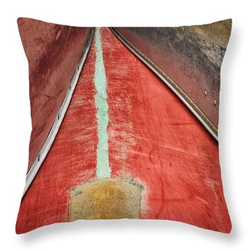 Throw Pillow featuring the photograph Inverted-stacked Canoes by Gary Slawsky