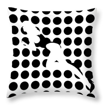 Invisible Beauty Throw Pillow