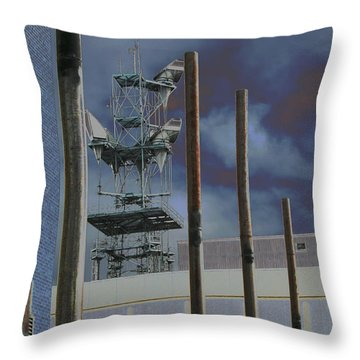 Invisible Industry Throw Pillow