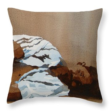 Invisible Man Throw Pillow by Kris Parins