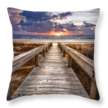 Throw Pillow featuring the photograph Invitation by Debra and Dave Vanderlaan
